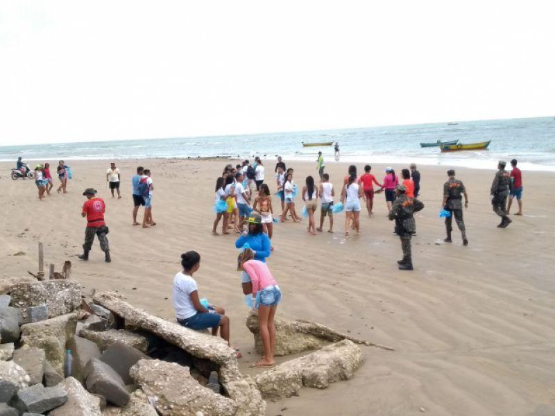 Ação em comemoração ao Dia de Limpezas de Rios e Praias recolhe 101 kg de lixo no Peba