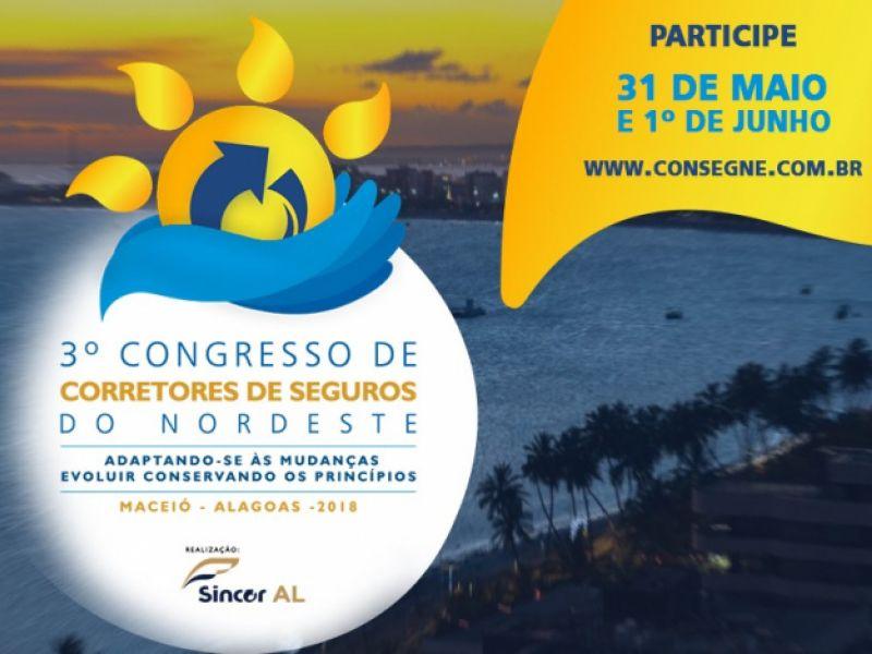 3º Congresso de Corretores de Seguros do Nordeste será realizado em Maceió