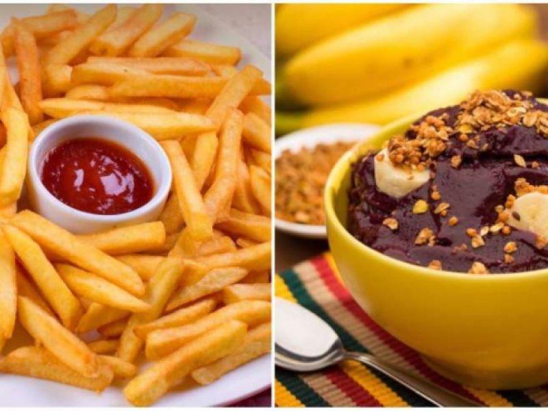 É melhor comer batata frita ou tomar açaí?