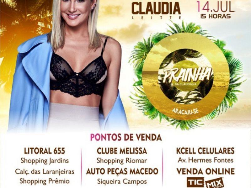 Claudia Leitte: show Prainha desembarca em Aracaju no dia 14 de julho