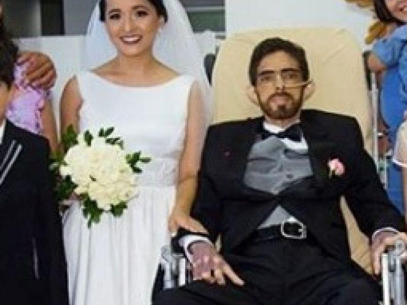 Homem com câncer se casa em hospital e morre 04 dias depois; veja vídeo do casamento