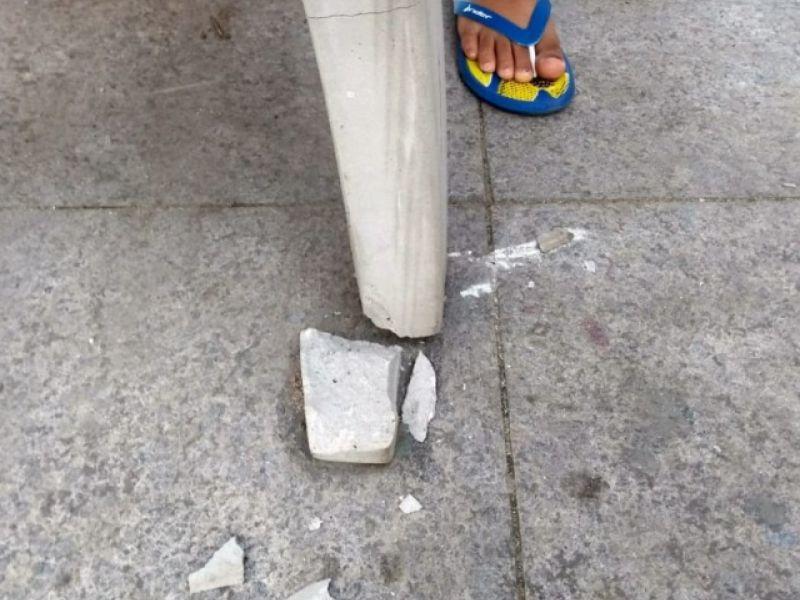 Mais uma vez, vândalos destroem patrimônio público recentemente inaugurado em Penedo