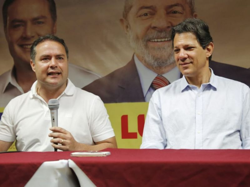 Renan Filho reafirma apoio no segundo turno ao candidato Fernando Haddad (PT)