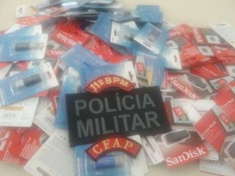 Sergipano é detido por comercializar mercadorias falsas durante a festa de Bom Jesus de Penedo