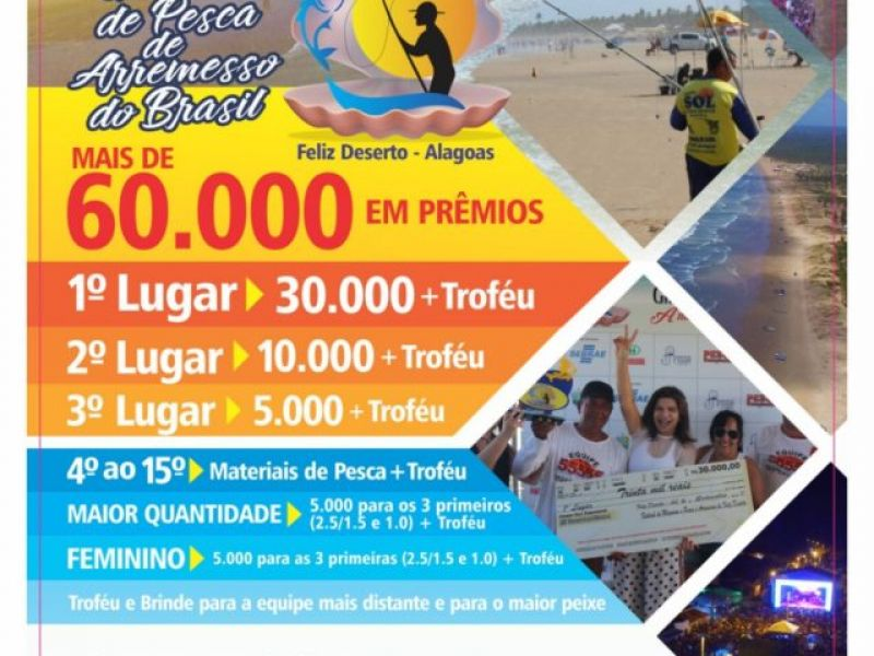 Festival do Maçunim e Gincana de Pesca de Feliz Deserto será realizado em abril