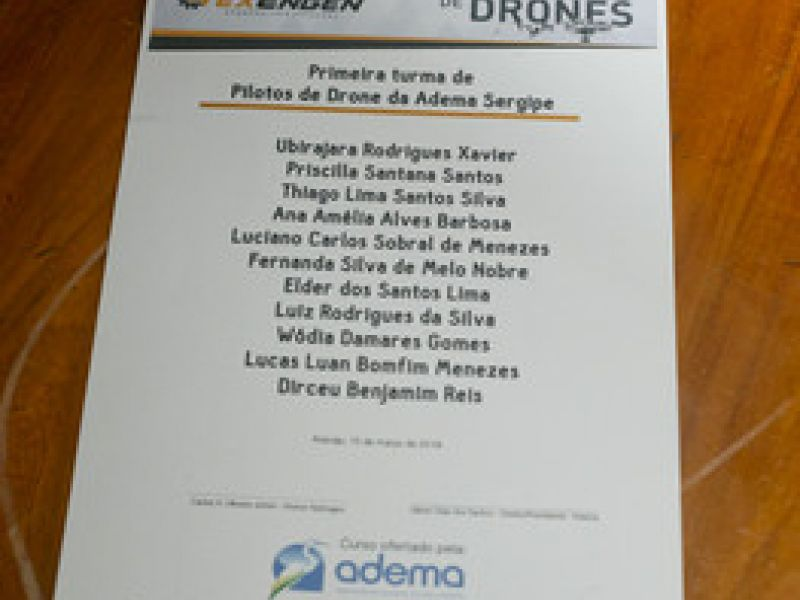 Adema realiza formatura da primeira turma de pilotos de drones