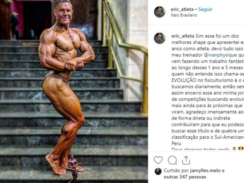 Durante campeonato, fisiculturista de Penedo garante vaga para Sul-Americano no Peru