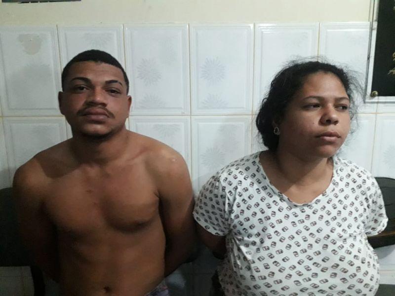 Casal suspeito de homicídio é preso por tráfico de drogas em Neópolis