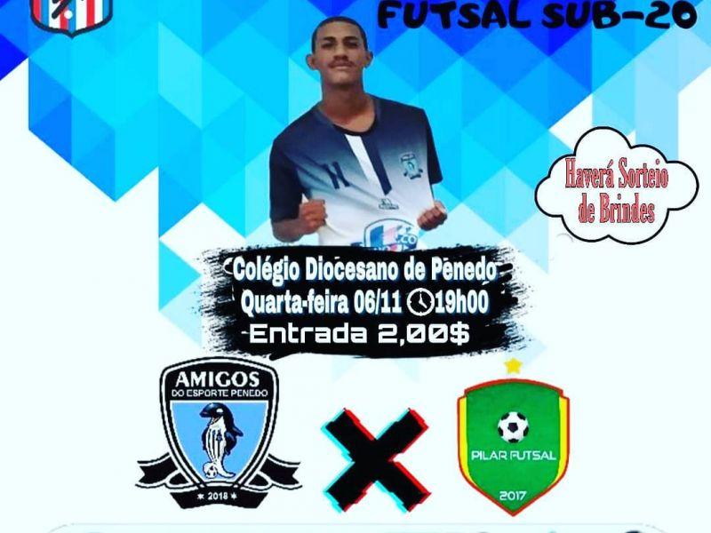 """""""Amigos do Esporte"""" enfrenta Pilar Futsal pelo Campeonato Alagoano em Penedo"""