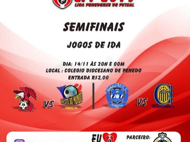 Semifinais da Liga de Futsal acontecem na noite desta quinta, 14, em Penedo