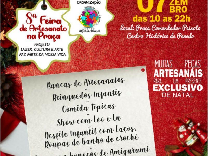 """""""Feira de Artesanato na Praça"""" de Penedo terá opções exclusivas para o Natal"""