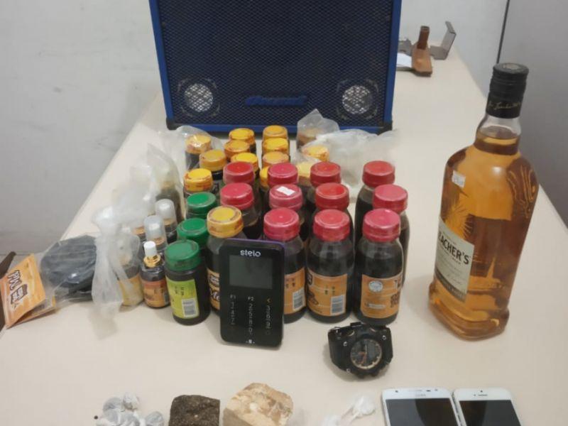 Jovens são presos após serem flagrados com material roubado e drogas em Coruripe