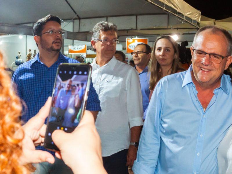 Governador participa da solenidade de abertura da Feira de Sergipe