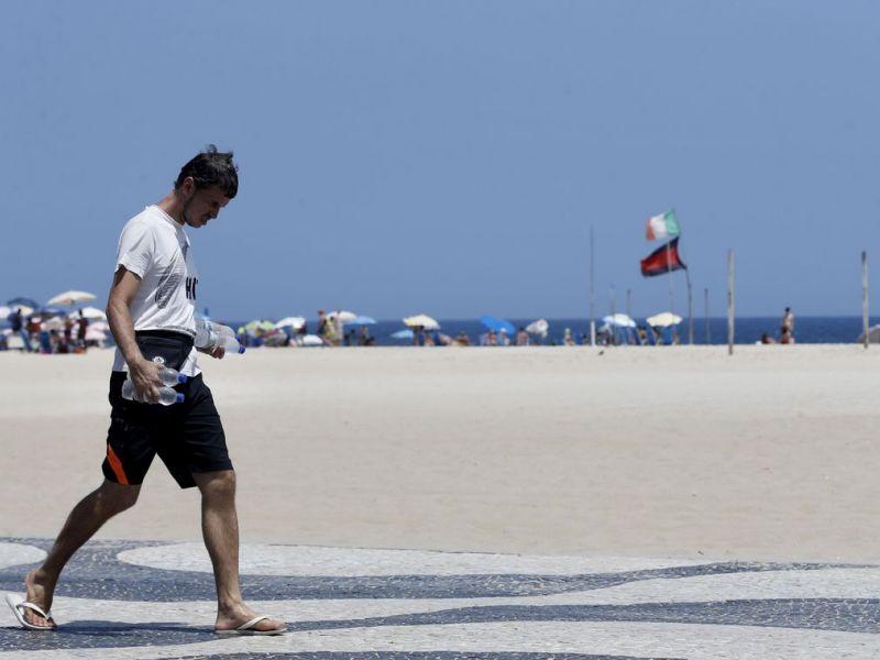 Termômetros no Rio marcam 39,5º C, com sensação térmica de 50,7º C