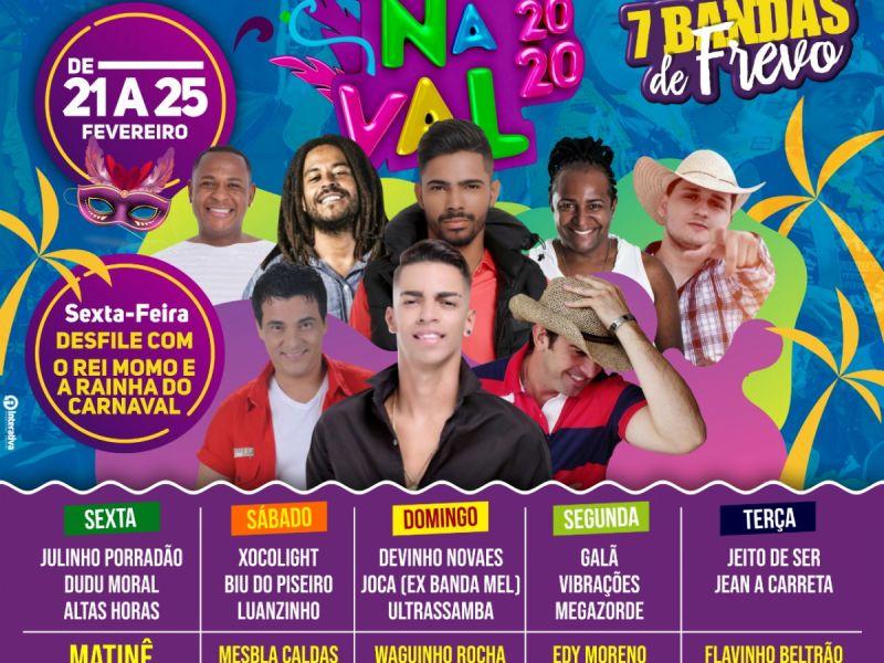 Carnaval em Neópolis terá 18 bandas, matinê e sete orquestras de frevo pelas ruas da cidade