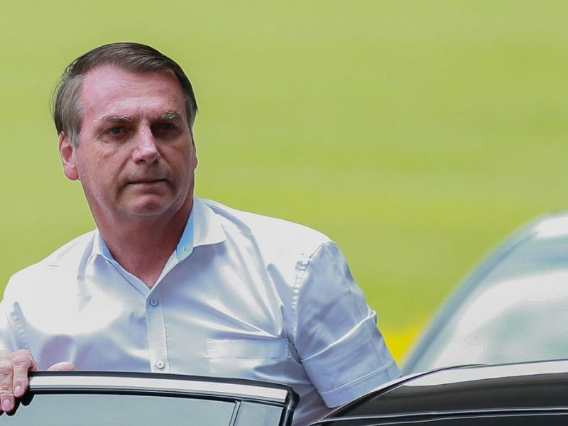 Presidente Jair Bolsonaro visita localidades em Brasília